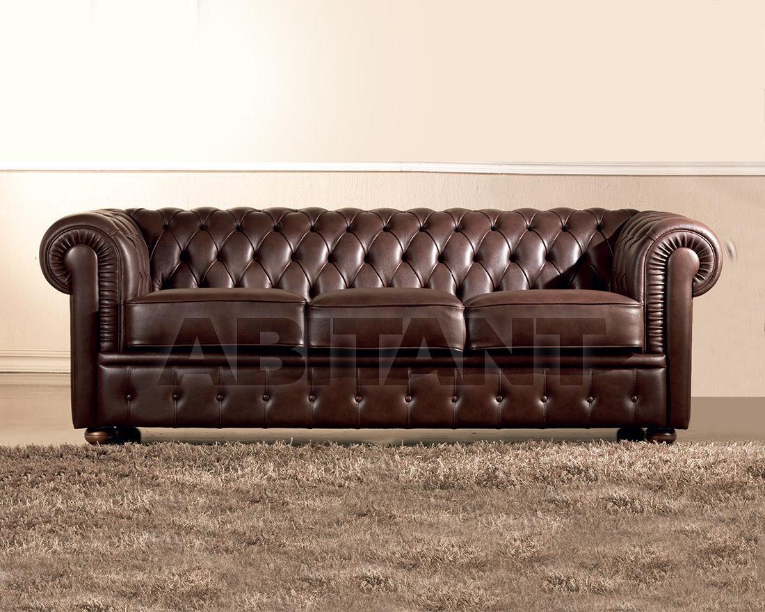 Sofa brown Keoma Salotti Chester Divano 3 posti fisso, : Buy, оrder ...