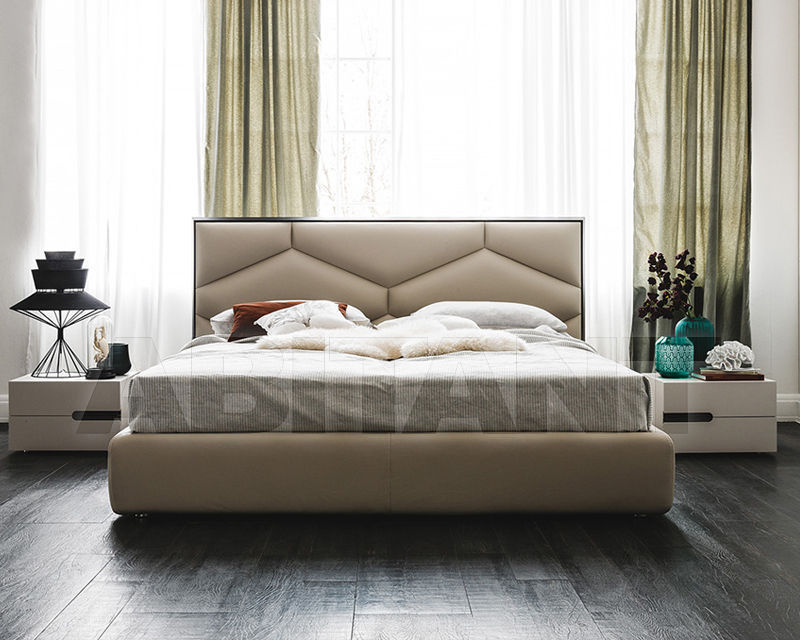 Bed Light beige Cattelan Italia EDWARD D