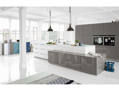 Kitchen Fixtures Nolte Kuechen MODERN KITCHENS Soft Lack Arctic White/  Quarz Grey