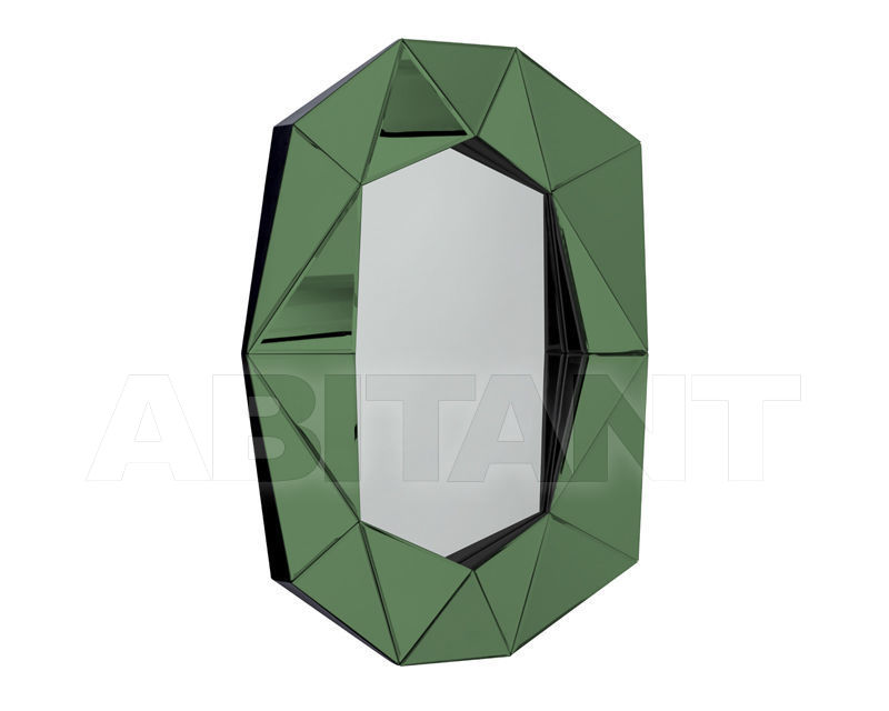 Buy Wall mirror Reflections by Hugau 2020 DIAMOND LARGE green
